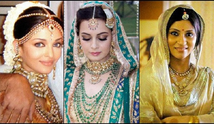 Photo Credit: http://www.bollywoodshaadis.com/articles/best-maan-tikka-designs-real-bollywood-brides-3960/